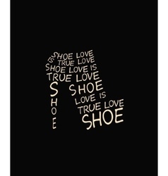 Fashion woman shoe from quote vector