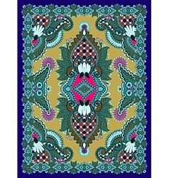 Floral ornamental carpet design vector