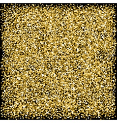 Gold sparkles glitter texture Black background vector image vector image