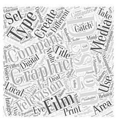 Graphic design companies word cloud concept vector