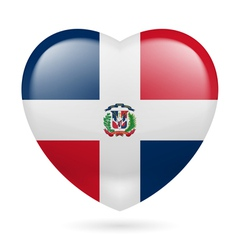 Heart icon of dominican republic vector