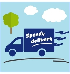 Icon of fast delivery vector
