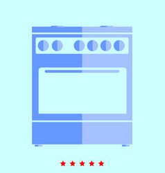 kitchen stove set it is color icon vector image