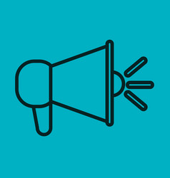 Megaphone icon speak blue background social vector