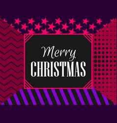 merry christmas modern pattern fashionable vector image