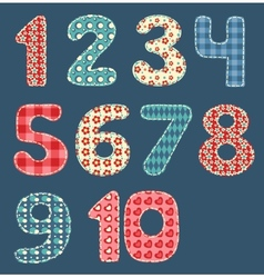 Numbers patchwork set vector image