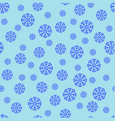 snowflake chaotic seamless pattern 310 vector image