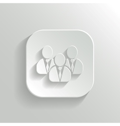 User group network icon - white app button vector