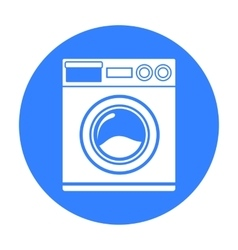 Washer black icon for web and mobile vector
