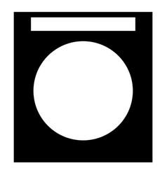 Washing machine the black color icon vector