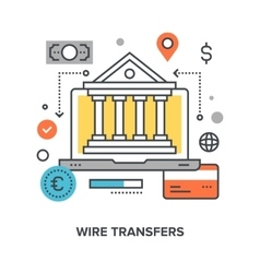 Wire transfers concept vector