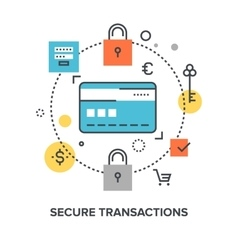 Secure transaction concept vector