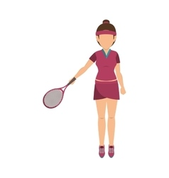 Girl playing tennis sport vector