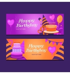 Happy birthday banners vector image