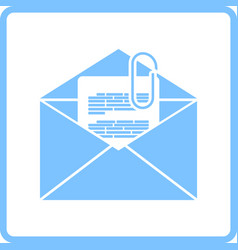 Mail with attachment icon vector