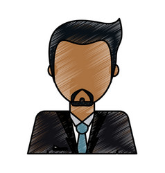 Color pencil image caricature faceless half body vector