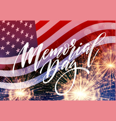 Happy memorial day card national american holiday vector