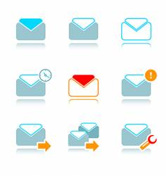 emails icon-set vector image