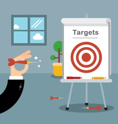 Hitting our targets vector image