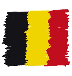 Flag of belgium handmade vector
