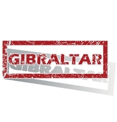 Gibraltar outlined stamp vector