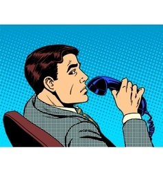 Businessman with phone vector