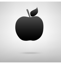 Apple black icon vector