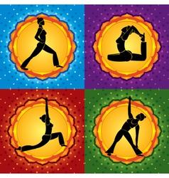 yoga square vector image