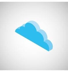 Cloud isometrics design vector