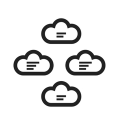 Cloud group vector