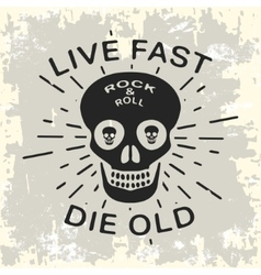 Rock and roll vintage stamp vector