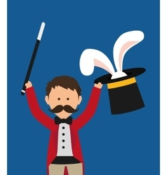 Magician icon Circus and Carnival design vector image