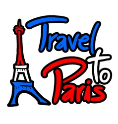 Travel to paris message vector