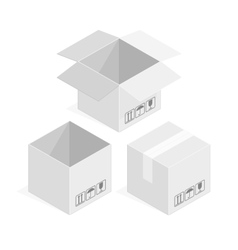 Square white box vector image