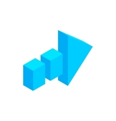Arrow of broken line isometric 3d icon vector image vector image