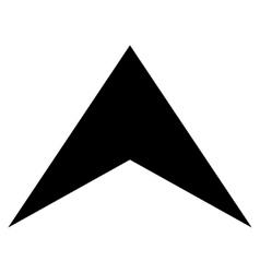 Arrowhead up flat icon vector