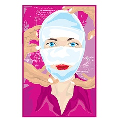 Bandaged face vector