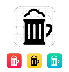Beer glass pub icon vector image