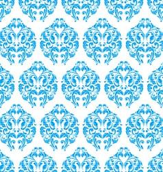 blue vintage seamless pattern vector image