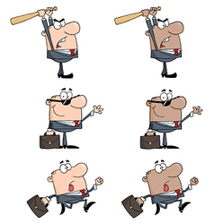 Business Man-Collection vector image