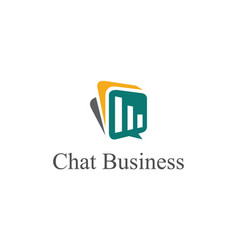 chat business logo vector image vector image