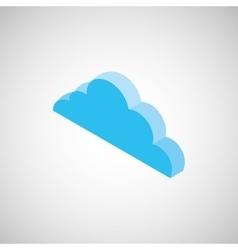 Cloud isometrics design vector