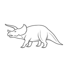 Dinosaurs on white background vector