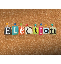Election concept vector