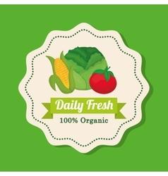 Farm fresh design organic food icon colorful vector