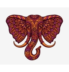Festive indian elephant ethnic patterns vector