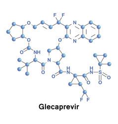 glecaprevir treatment hcv vector image vector image