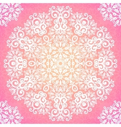 Lacy pink ornate seamless pattern vector image