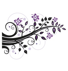 Leaves flowers vector image vector image