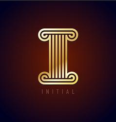 Letter i column logo vector